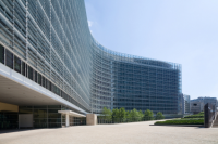 European Commission Building in Brussels, Belgium