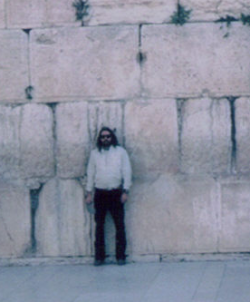 Myself standing before the Western Wall in 1986