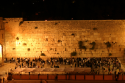 The Western Wall in Jerusalem at night